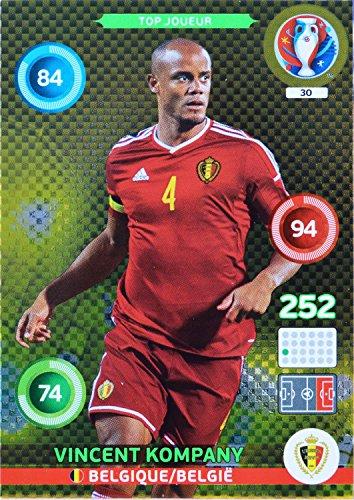 carte PANINI EURO 2016 #30 Vincent Kompany