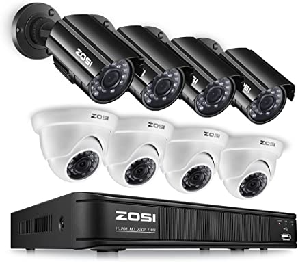 ZOSI 8ZM-211BX418W-00-US 720p Home Surveillance Camera System Full HDCCTV DVR