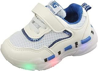 Sunward 1-6 Years Children BabyGirls Boys Mesh Led Light Luminous Run Sport Sneakers Shoes