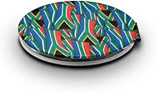 LALABULU Makeup Mirror South Africa Flag Wave Collage Mini Pocket Mirror (Ellipse)