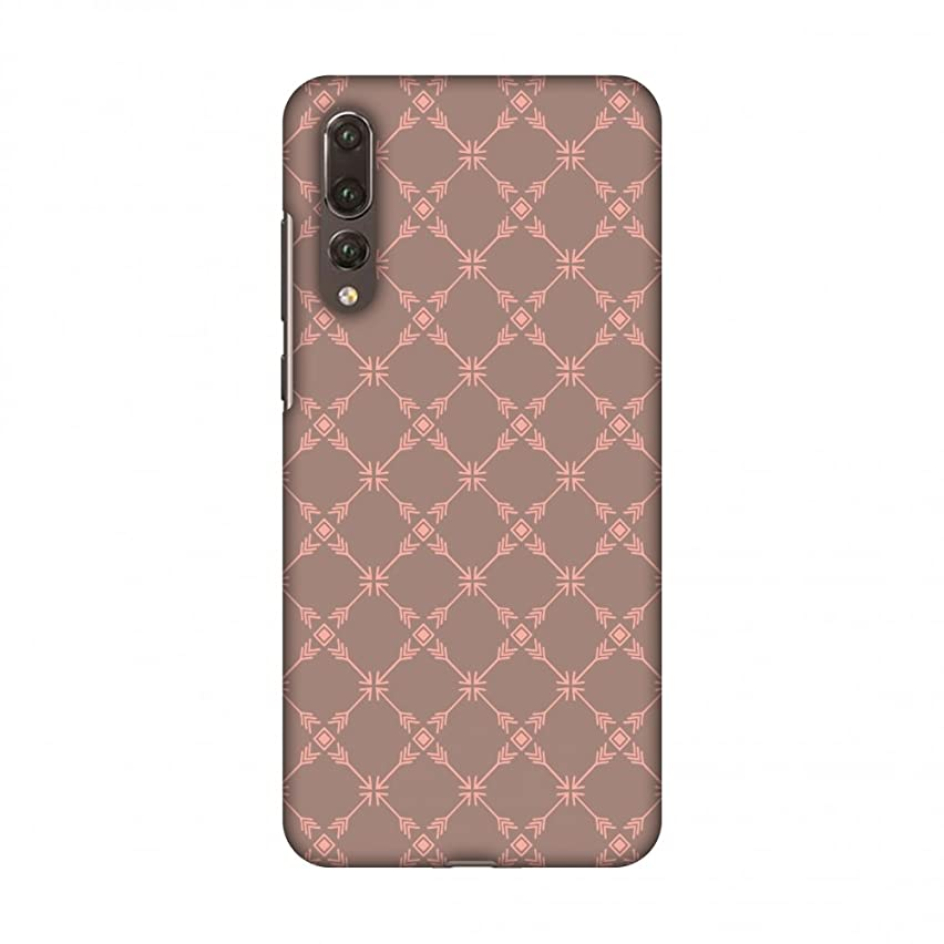 AMZER Slim Fit Handcrafted Designer Printed Snap On Hard Shell Case Back Cover with Screen Cleaning Kit Skin for Huawei P20 Pro - Tribal Mesh- Antique Brass HD Color, Ultra Light Back Case