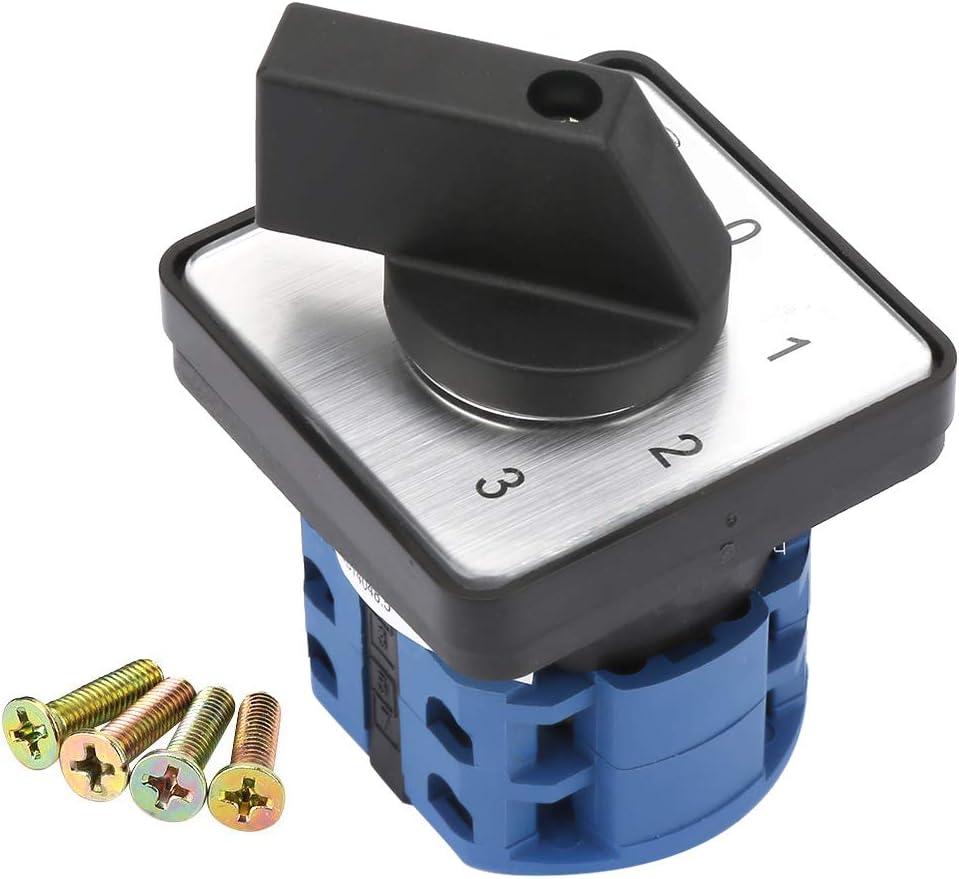 Interruptor de cambio Selector giratorio de 6 polos 660 V 20 A Selector giratorio universal de 4 posiciones