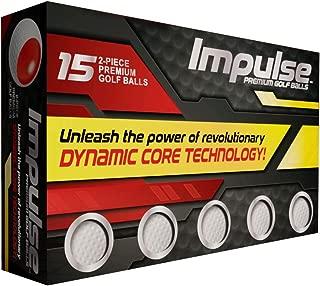 Impulse Premium Golf Balls, White, 15-Pack