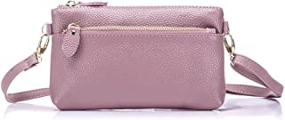 Aladin Small Leather Crossbody Bag/Wristlet Purse 2 In 1 Handbag for Women Teen Girls