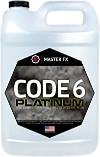 Code 6 Platinum - Extreme High Density - Extremely Long Lasting - HDF Organic Fog Machine Fluid, USA Made, Water Based - 1 Gallon