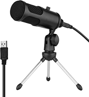 USB Condenser Microphone Set Profession Microphone System with Foldable Mic Tripod USB Power Cord for Recording Live Strea...
