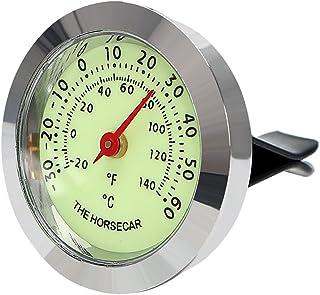 iTimo Auto Ornaments, Luminous Thermometer/Hygrometer, Auto Innen Zubehör Automarke Air Vent Clip Dekoration