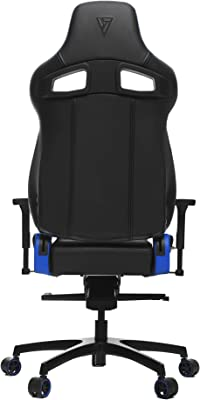 Vertagear Gaming Racing Seat Home Office Computer Coffee Fiber High Back Executive Chairs, Black/Blue