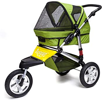 Dogger Stroller | Comfortable Dog Stroller | Sturdy Ride for Senior Dogs, Small Dogs, Puppy or Cats | 3 Wheeler Pet Carrier Stroller | Easy Folding