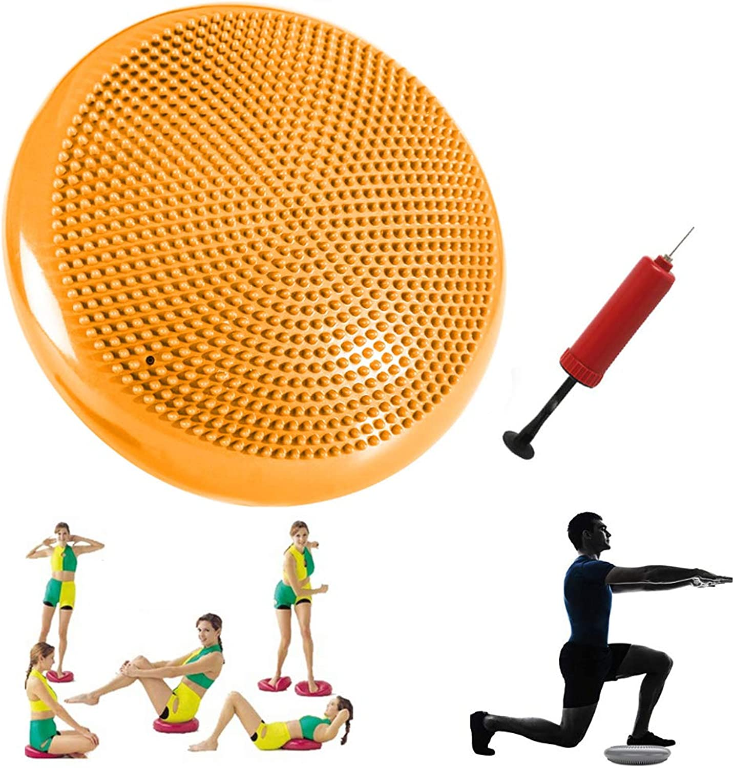 Price Xes Exercise Stability Core Balance Disc Trainer, Wobble Cushion w Air Pump Wiggle Chair Sitting Disk Inflatable Exercise Stability Board, Yoga Core Training Flexible Sitting Workout Fitness