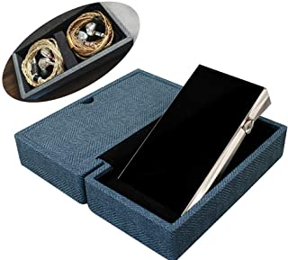 Miter Carrying case for DAP + Earphone, Handmade Italy PU Leather Hard Standing case for 2 IEM Earphones + 1 Digital Audio...