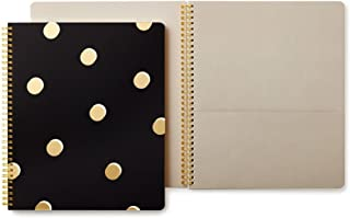 Kate Spade New York Large Spiral Notebook with 160 College Ruled Pages, Scatter Dot