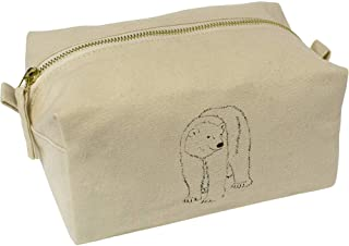 'Polar Bear' Canvas Wash Bag / Makeup Case (CS00018436)