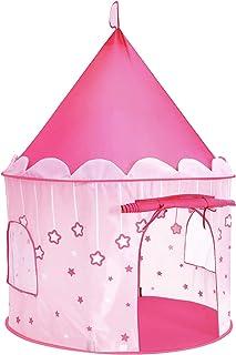 SONGMICS Tienda de campaña Infantil, Carpa Plegable para niños, Casa de Juegos para Interiores y Exteriores, Pop-up portátil Tienda con Bolsa de Transporte, con Estrellas, Rosado, LPT01PK