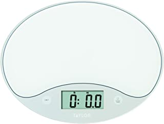 Taylor Precision Products Taylor 11lb Slimline Digital Kitchen Food Scale, 11 Lb, White