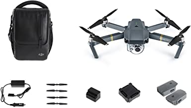DJI Mavic Pro Fly More Combo: Foldable Propeller Quadcopter Drone Kit with Remote, 3 Batteries, 16GB MicroSD, Charging Hub, Car Charger, Power Bank Adapter, Shoulder Bag