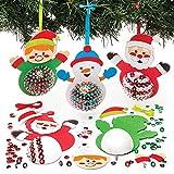 Baker Ross Kit de Décorations Personnages de Noël avec Sequins (Paquet de 3) - Loisirs Créatifs et Décorations de Noël pour Enfants, AR759