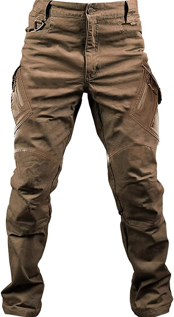 Zichhing Men's Cargo Pants Military Cotton Trousers Work Duty Ov