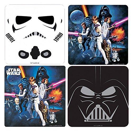 Star Wars - Untersetzer 4er Set - Helden Vs. Darth Vader & Trooper - Episode 4-6