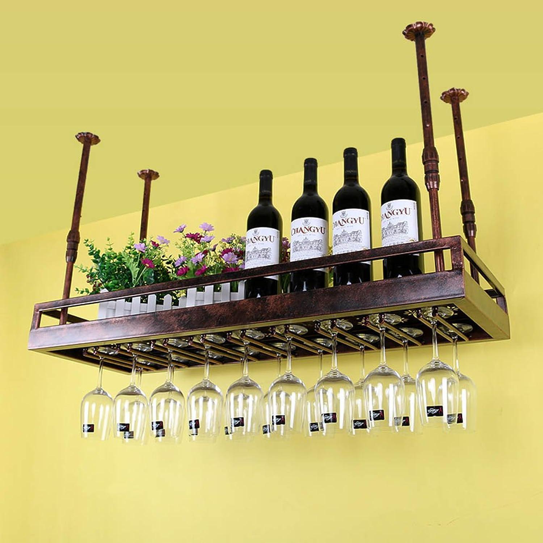 solo para ti TLMY TLMY TLMY Portavaños De Vino Colgante Portavaños Estante De Exhibición Estante De Vidrio Alto Estante De Vidrio De Vino Barra De Bar Estantería de Vino (Talla   50  35cm)  entrega de rayos