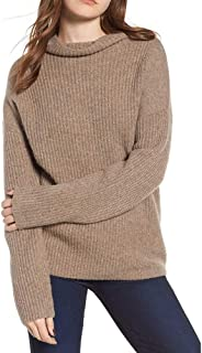 Pgojuni Winter Warm Fashion Women Knitted Long Sleeve Solid Top Pullover Sweater Blouse