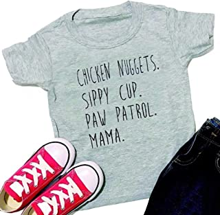 Mama Paw Patrol Toddler T-Shirts Unisex Kids Boys Girls Summer Shirt Short Sleeves Casual Tops