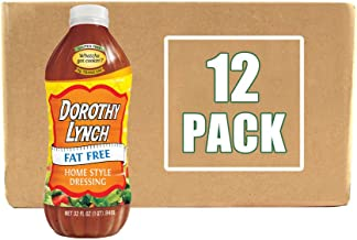 product image for Dorothy Lynch Light & Lean Salad Dressing 32 oz | Case of 12 Bottles | Gluten Free | No MSG & No Trans Fat | Best Condiment & Dressing | Flavor that goes with Everything | Made In USA