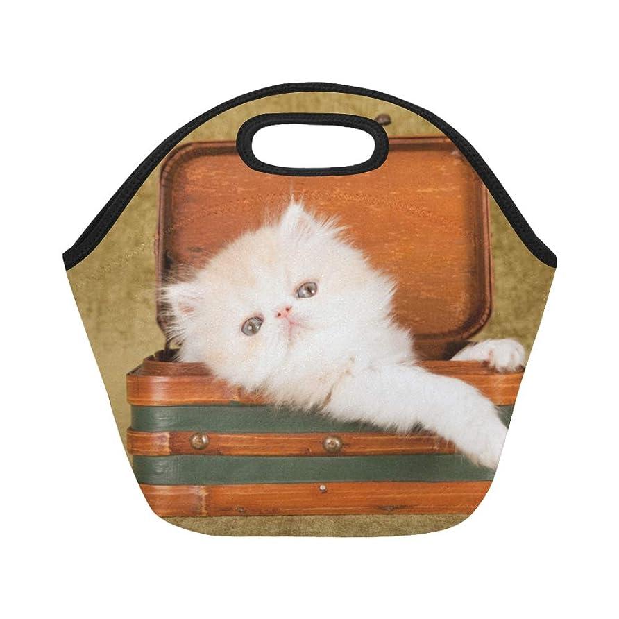 キャビンプレビスサイト餌XHQZJ ランチバッグ すばしこい ペルシア猫 弁当袋 お弁当入れ 保温保冷 トート 弁当バッグ 大容量 トートバッグ