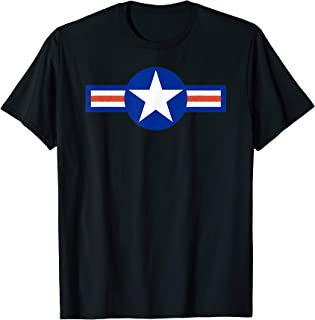 US Air Force Army Navy Military Aviation Roundel T-Shirt