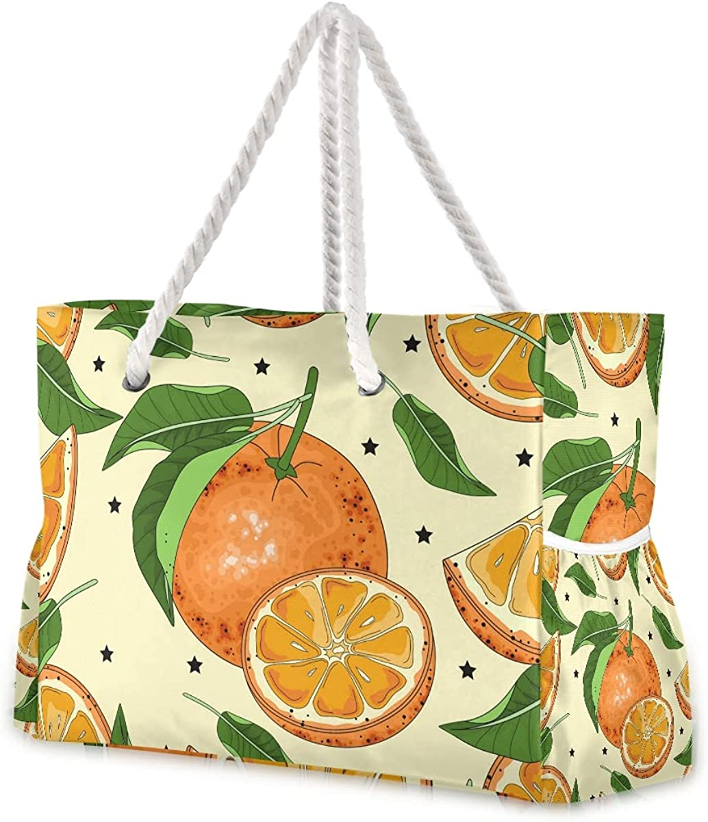 Oranges Super sale period limited Slices Sketch Super beauty product restock quality top Beach Bags Extra for Large Travel To Women