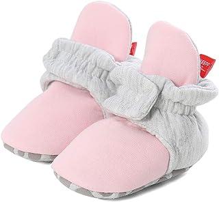 Lacofia Zapatos de calcetín de bebé Invierno Botas Suave de Suela Blanda para bebé niño o niña