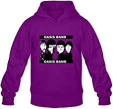 DASY Men's O-neck Oasis Band Hooded XX-Large Purple