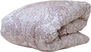 眠り姫 日本製 羽毛合掛布団 ホワイトマザーダックダウン 93% シングルロング シェリー ピンク 150×210cm 60サテン 超長綿 400dp かさ高165mm以上