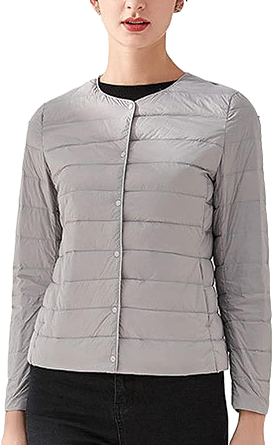 Women's Quilted Lightweight Jackets Thermal Packable Button Puffer Coat