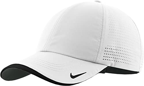 Nike Authentic Dri-FIT Low Profile Swoosh Embroidered Perforated Baseball Cap - White