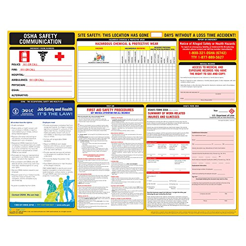 OSHA Safety Communication Poster, 2021 - Labor Law Center Laminated Poster (English)