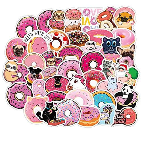 LYDP 50 adesivi per cartoni animati, impermeabili, per bambini, colore: rosa