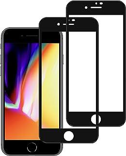 Nimaso ガラスフィルム iPhone 8 Plus / 7 Plus 5.5インチ 用 全面保護フィルム フルカバー 2枚セット