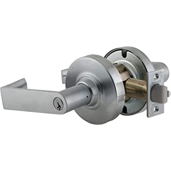 Zinc; Wrought Brass Or Bronze Oil Rubbed Bronze Finish 2-3//4 Backset Non Handed Schlage ND50JD-RHO-613 Grade 1 Entrance//Entry//Office 613