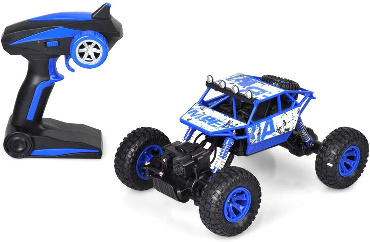 Generic New Arrivel 1 18 Rc Car 4wd Extreme Crawler SUV 2.4ghz Remote Control Mini Off Road Car High Speed Rock Rover Toys for Kids bluee