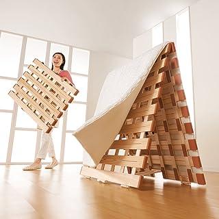 シングル(気になる湿気対策に薄型・軽量桐天然木すのこベッド 2つ折りタイプ) 688512