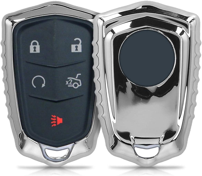 Kwmobile Autoschlüssel Hülle Kompatibel Mit Cadillac Elektronik