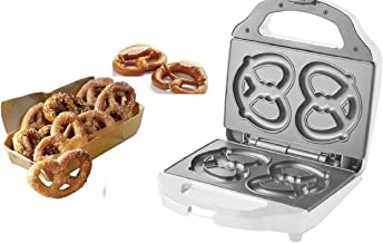 J-JATI Soft Pretzel Maker Presser Home family fun Pretzel Maker/ Makes 2 Large Pretzels/ Color White