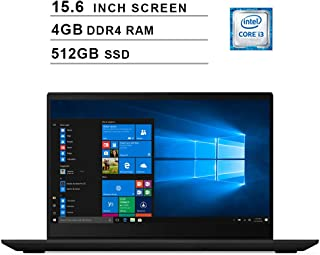 Lenovo 2019 Premium Ideapad S340 15.6 Inch HD Laptop (Intel Dual Core i3-8145U up to 3.9 GHz, 4GB RAM, 512GB SSD, Intel UHD Graphics 620, WiFi, Bluetooth, HDMI, Windows 10) (Black)