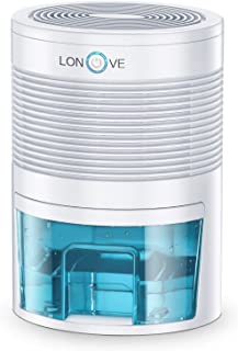 LONOVE Dehumidifier - 800ML Portable Small Dehumidifiers for Home Bathroom Bedroom Basement Closet RV Camper Garage,2000 Cubic Feet Anti-Overflow Electric Mini Dehumidifier for Space Up to 165 Sq.ft