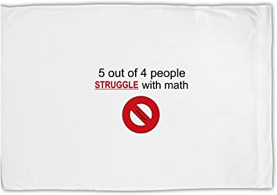 TooLoud 5 Out of 4 People Funny Math Humor Standard Size Polyester Pillow Case