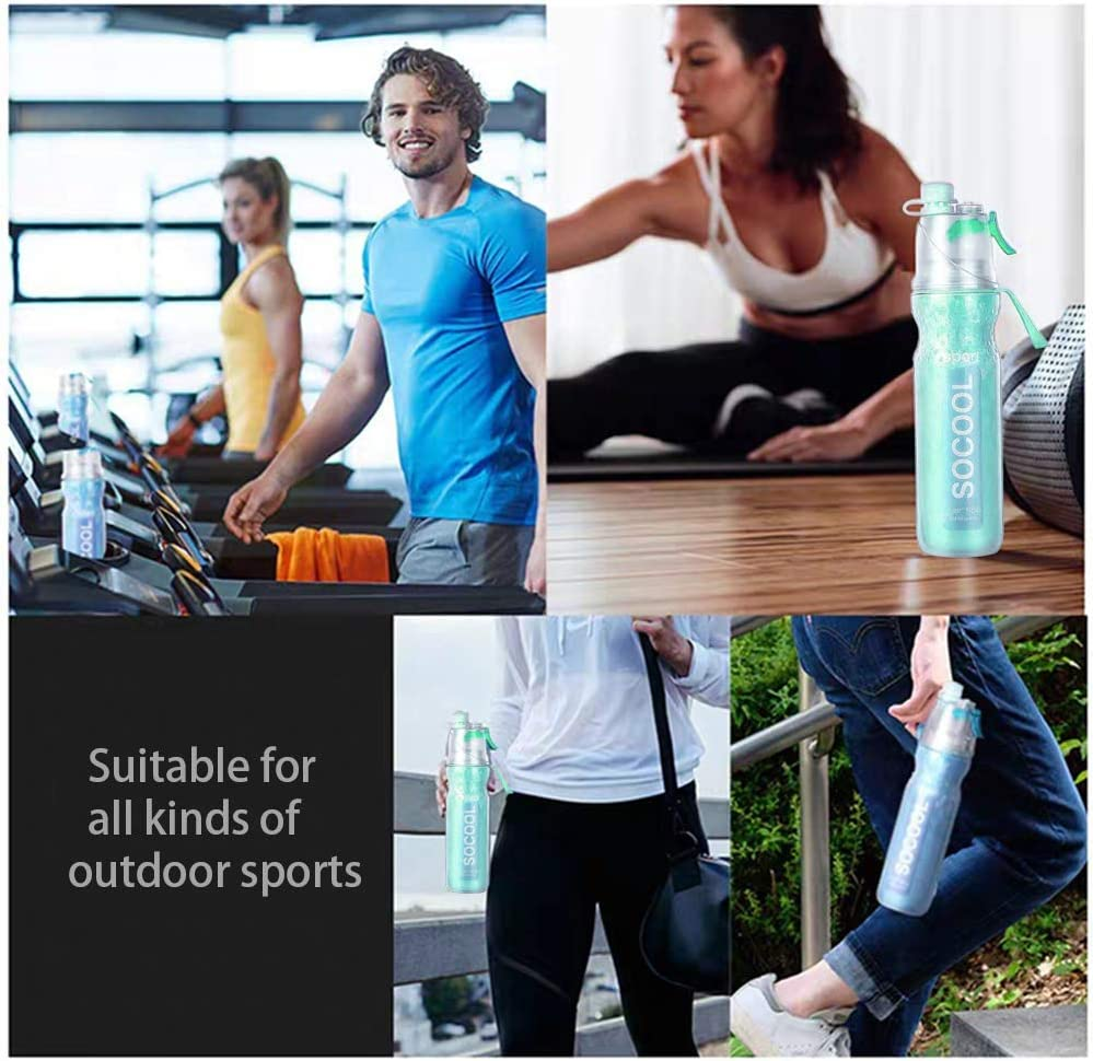 Perfect for Fitness Gym Camping Outdoor Sports Huisheng Drinking and Spray Sport Water Bottle Leak Proof 20 oz Big Capacity