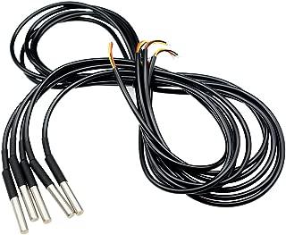 Aideepen 5PCS DS18B20 Waterproof Temperature Sensor Digital Thermal Temp Stainless Steel Tube Probe 2 Meter Cable
