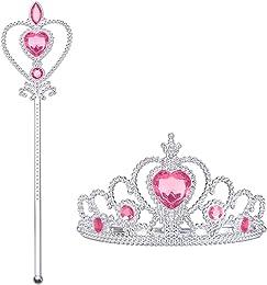Vicloon Elsa 2 Pièces Cadeau Set,Princesse Inclus
