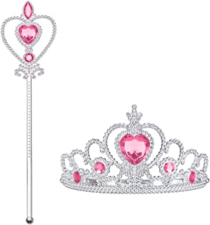 Vicloon Accessori Principessa Elsa, Principessa Corona e Principessa Bacchetta, Accessori Abito per Carnival Birthday Part...